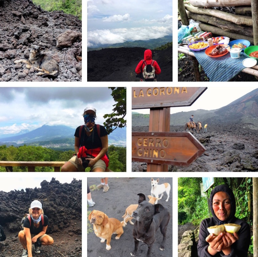 Pacaya Volcano collage