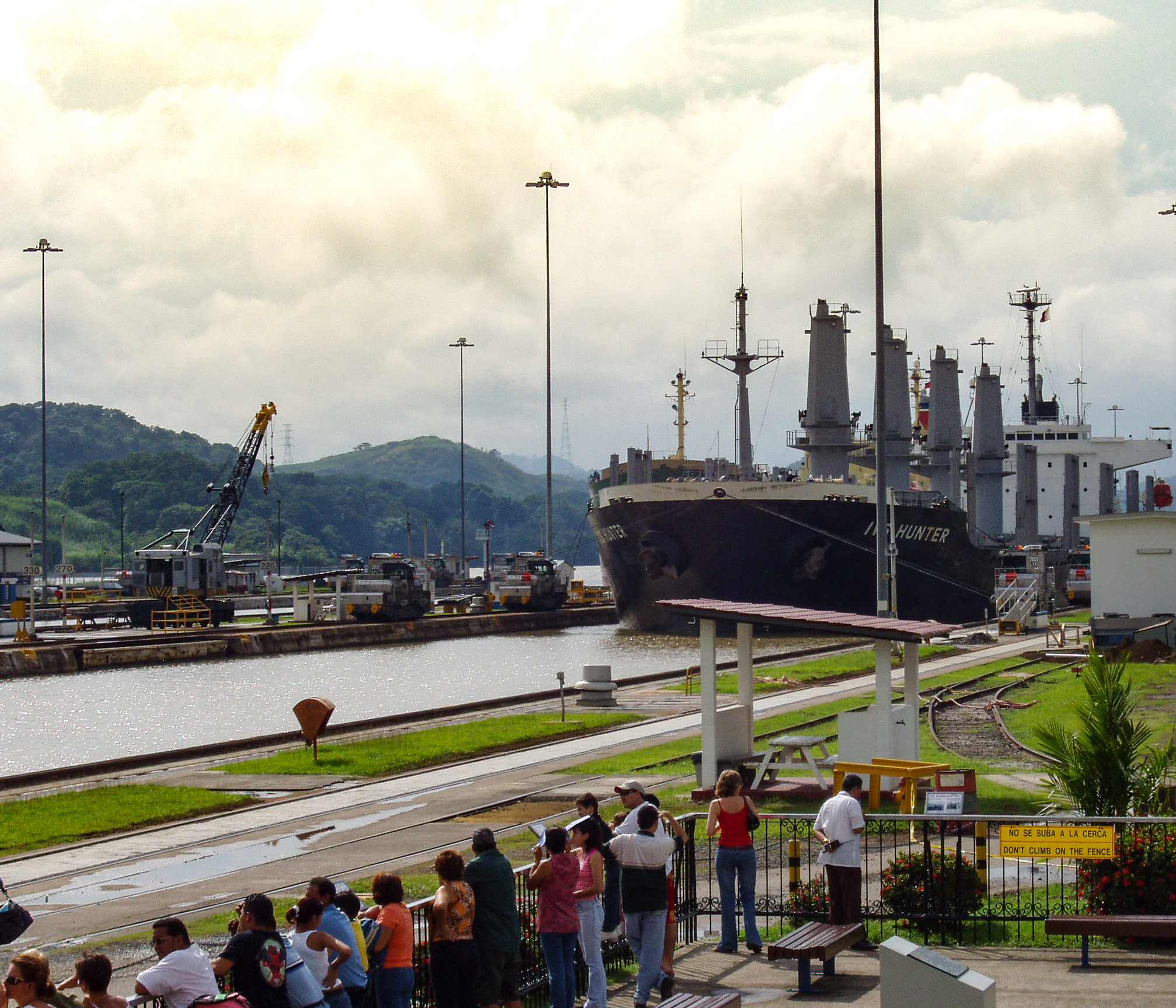 Viewing boats at Panama Canal fun budget-friendly travel experience