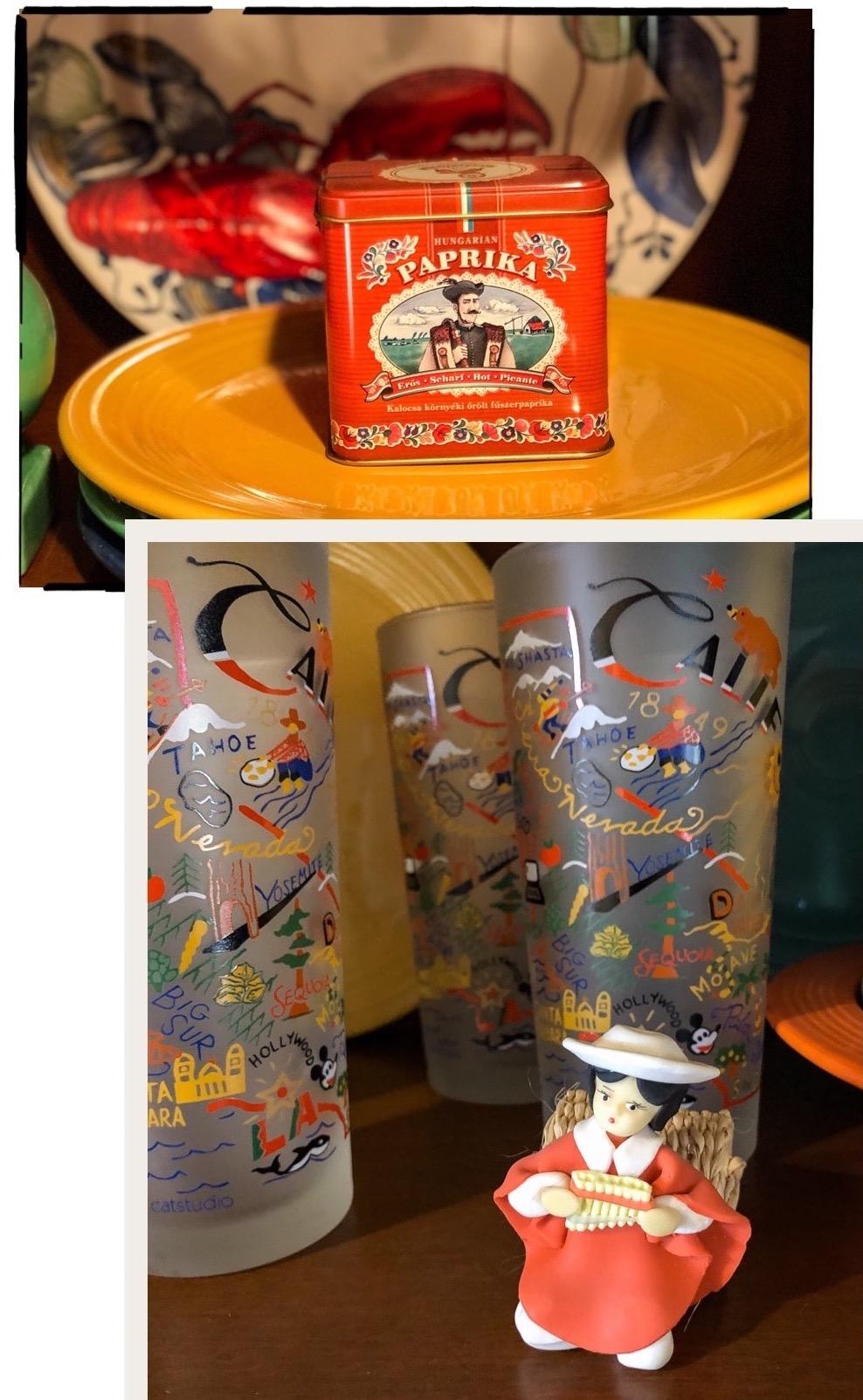 Hungarian paprika and Quito napkin ring travel souvenirs