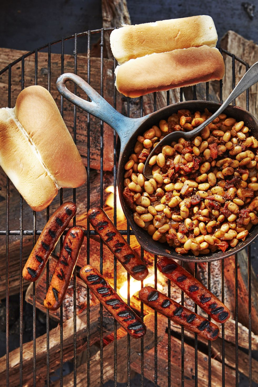 Hot Dogs and beans memorial day recipes