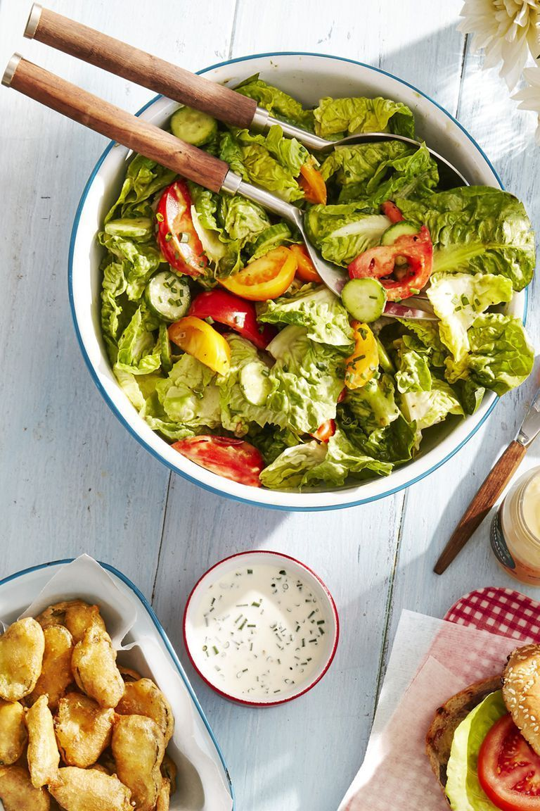 tossed salad with green goddess dressing memorial day recipe