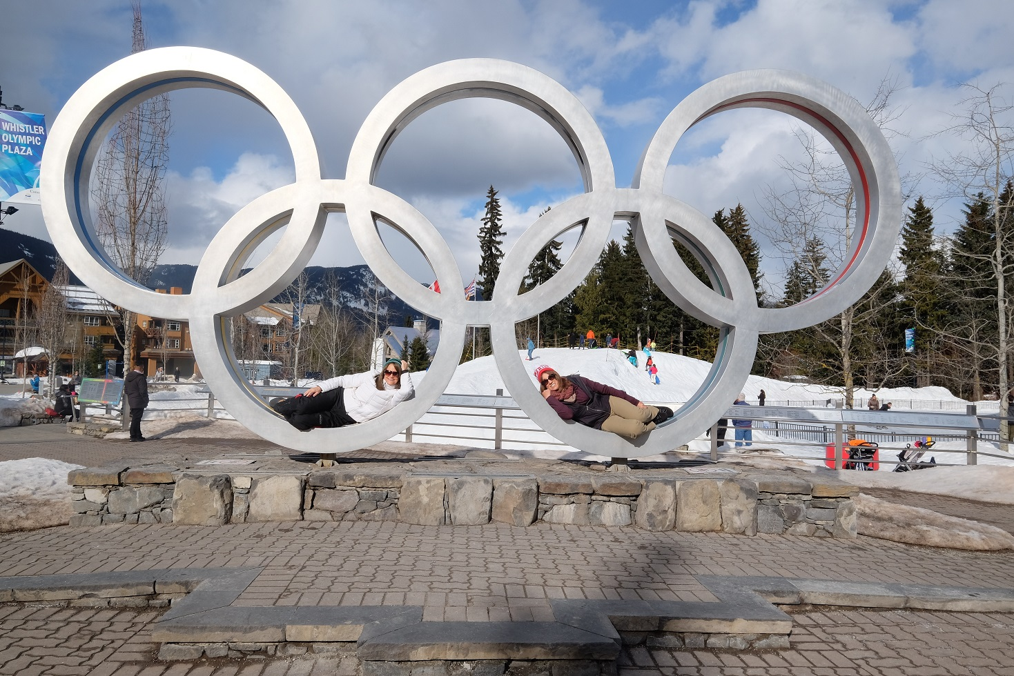 Travel to Whistler, Canada, Olympic rings