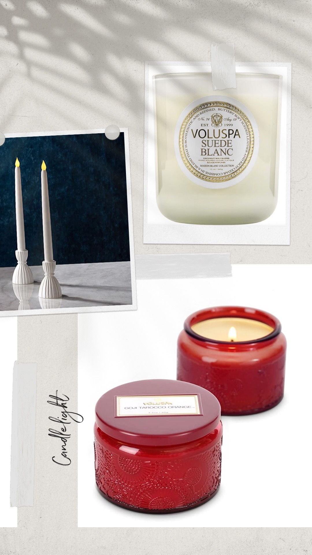 Good candles for a dinner party