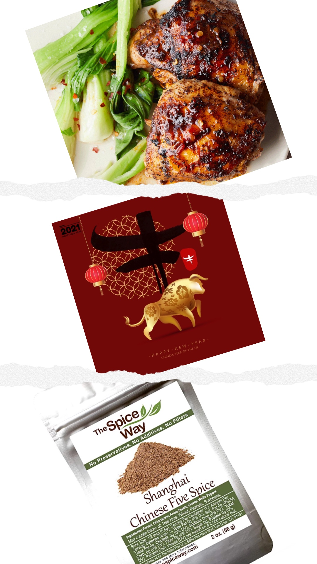 Chinese FIve-Spice chicken Food dot com